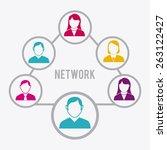 network design over white... | Shutterstock .eps vector #263122427