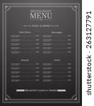 restaurant menu design with... | Shutterstock .eps vector #263127791