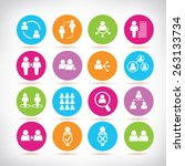 people icons | Shutterstock .eps vector #263133734