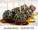 cocktail meatball snacks with... | Shutterstock . vector #263142725