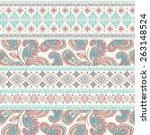 tribal vintage ethnic seamless... | Shutterstock .eps vector #263148524