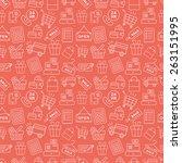 shopping line icon pattern set | Shutterstock .eps vector #263151995