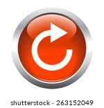 round transparent reset button... | Shutterstock . vector #263152049