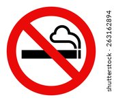 no smoking sign. smoking... | Shutterstock .eps vector #263162894