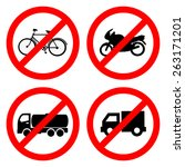 no car icon great for any use.... | Shutterstock .eps vector #263171201