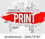 print word cloud concept | Shutterstock .eps vector #263173787