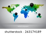 world maps | Shutterstock .eps vector #263174189