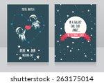 wedding invitations with stars... | Shutterstock .eps vector #263175014