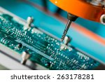 pcb processing on cnc machine | Shutterstock . vector #263178281