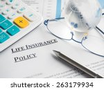 life insurance policy | Shutterstock . vector #263179934