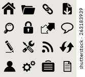 windows icons set great for any ... | Shutterstock .eps vector #263183939