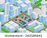 illustration of buildings ... | Shutterstock .eps vector #263184641
