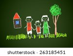 happy family   Shutterstock . vector #263185451