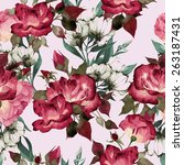 seamless floral pattern with... | Shutterstock .eps vector #263187431