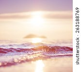 sea and sun background. vintage ... | Shutterstock . vector #263188769