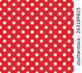 Seamless Red Polka Dot...