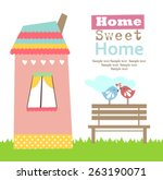 home sweet home | Shutterstock .eps vector #263190071