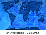 modern map of the world with a... | Shutterstock . vector #2631965