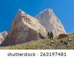 Two Men Hiking In Tajikistan...