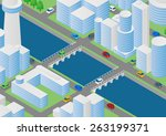 illustration of buildings ... | Shutterstock .eps vector #263199371
