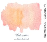 abstract watercolor pink and... | Shutterstock .eps vector #263200274
