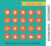 modern flat material server...   Shutterstock .eps vector #263206847
