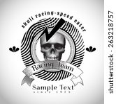 vintage skull racing team... | Shutterstock .eps vector #263218757