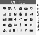 business and office icons set....