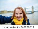 Tourist Taking A Funny Self...
