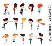 modern people in lifestyle ... | Shutterstock .eps vector #263224574
