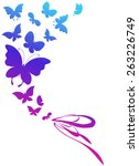 butterflies design | Shutterstock .eps vector #263226749