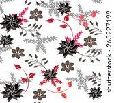 seamples flower illustration ...   Shutterstock .eps vector #263227199