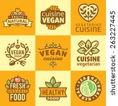 fresh organic labels and...   Shutterstock .eps vector #263227445
