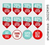 set commerical stickers | Shutterstock .eps vector #263229395