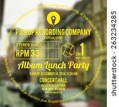 vinyl cover or label design... | Shutterstock .eps vector #263234285