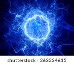 Blue Glowing Round Shape Energ...