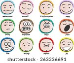 vector drawing cartoon... | Shutterstock .eps vector #263236691