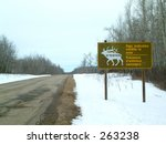 Sign Indicating Wildlife In...