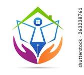 home for education vector... | Shutterstock .eps vector #263238761