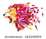 low polygon llion geometric... | Shutterstock .eps vector #263240054
