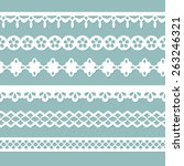 set of seamless borders on the... | Shutterstock . vector #263246321