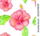 hibiscus flowers  vector... | Shutterstock .eps vector #263249849
