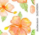 hibiscus flowers  vector... | Shutterstock .eps vector #263249894