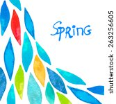 spring  background colorful... | Shutterstock .eps vector #263256605