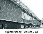 an airplane at the airport at... | Shutterstock . vector #26325913