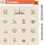 simple linear vector icon set... | Shutterstock .eps vector #263261189