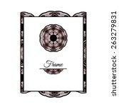 luxury frame template. isolated ... | Shutterstock .eps vector #263279831