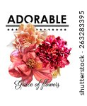 Floral Print With Slogan For...