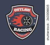 sport racing typography  t... | Shutterstock .eps vector #263308835