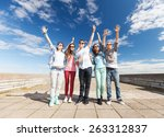 summer holidays and teenage... | Shutterstock . vector #263312837